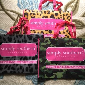 Bundle of 3 simply southern tote bags